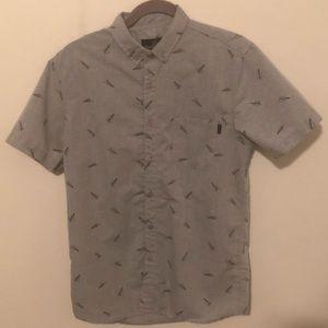 Gray Short Sleeve Button Down